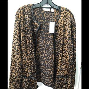 Chico's lightweight leopard print jacket NWT siz 3